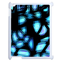 Blue light Apple iPad 2 Case (White)