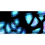 Blue light HUGS 3D Greeting Card (8x4) Front