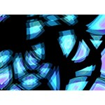 Blue light TAKE CARE 3D Greeting Card (7x5) Front