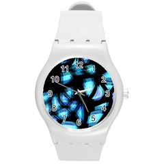 Blue light Round Plastic Sport Watch (M)