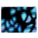 Blue light Cosmetic Bag (XXL)  Back