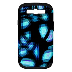 Blue light Samsung Galaxy S III Hardshell Case (PC+Silicone)