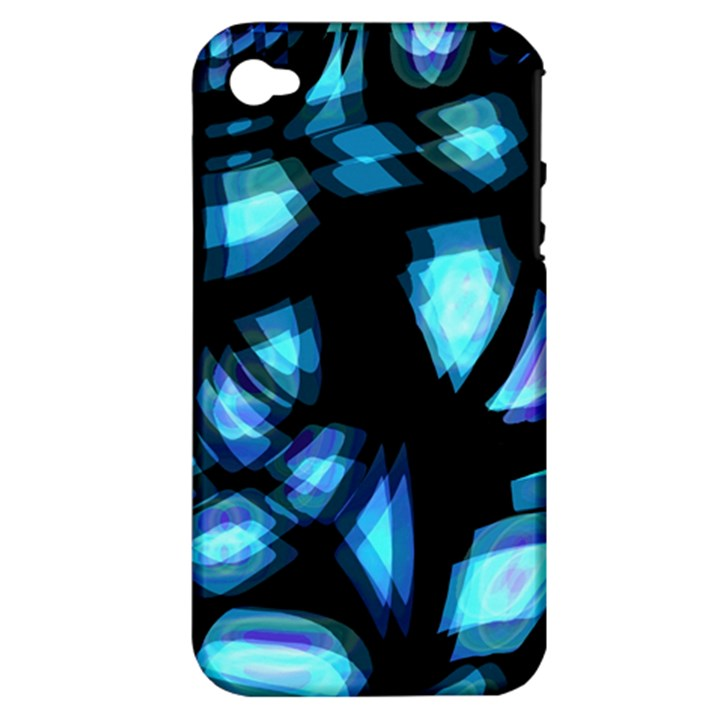Blue light Apple iPhone 4/4S Hardshell Case (PC+Silicone)