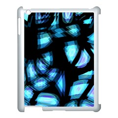 Blue light Apple iPad 3/4 Case (White)