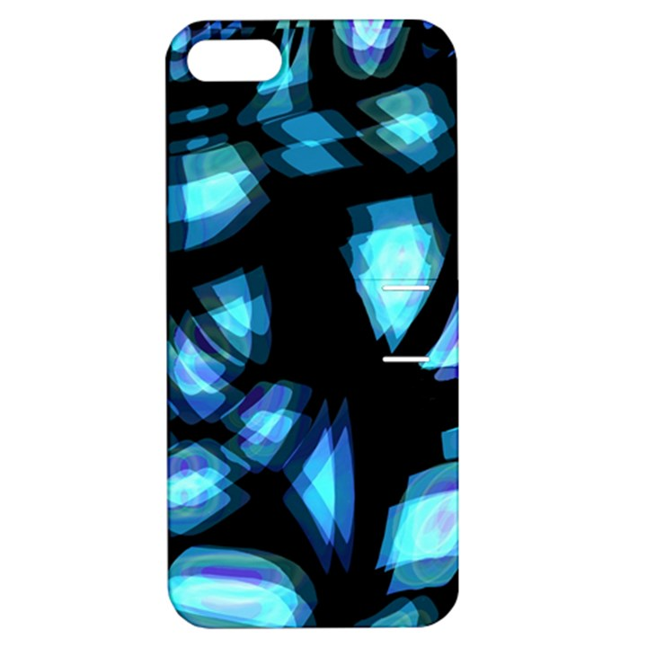 Blue light Apple iPhone 5 Hardshell Case with Stand