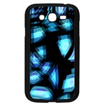 Blue light Samsung Galaxy Grand DUOS I9082 Case (Black) Front