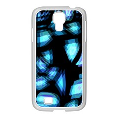 Blue Light Samsung Galaxy S4 I9500/ I9505 Case (white)