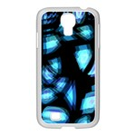 Blue light Samsung GALAXY S4 I9500/ I9505 Case (White) Front