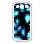 Blue light Samsung Galaxy S3 Back Case (White) Front