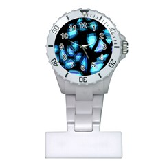 Blue light Plastic Nurses Watch