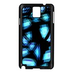 Blue light Samsung Galaxy Note 3 N9005 Case (Black)