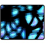 Blue light Double Sided Fleece Blanket (Medium)  58.8 x47.4 Blanket Back