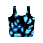 Blue light Full Print Recycle Bags (S)  Back