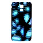 Blue light Samsung Galaxy S5 Back Case (White)
