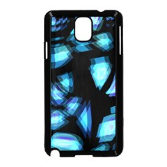 Blue light Samsung Galaxy Note 3 Neo Hardshell Case (Black)