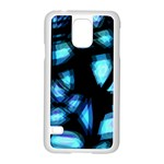 Blue light Samsung Galaxy S5 Case (White) Front