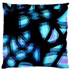 Blue Light Standard Flano Cushion Case (two Sides) by Valentinaart
