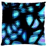Blue light Large Flano Cushion Case (Two Sides) Back