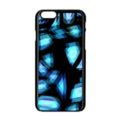 Blue light Apple iPhone 6/6S Black Enamel Case