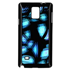 Blue light Samsung Galaxy Note 4 Case (Black)