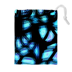 Blue light Drawstring Pouches (Extra Large)