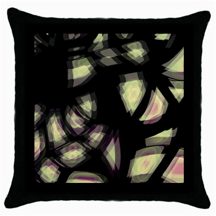 Follow the light Throw Pillow Case (Black)