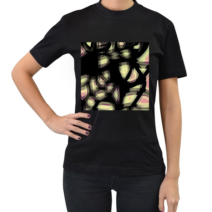 Follow the light Women s T-Shirt (Black)