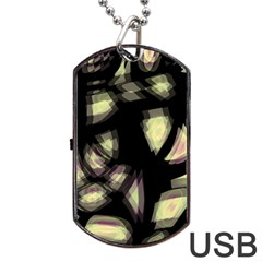 Follow The Light Dog Tag Usb Flash (one Side) by Valentinaart