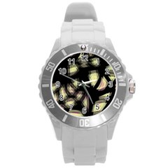 Follow The Light Round Plastic Sport Watch (l) by Valentinaart