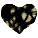 Follow the light Large 19  Premium Flano Heart Shape Cushions Front