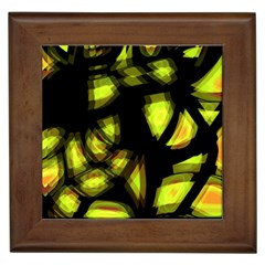 Yellow Light Framed Tiles by Valentinaart