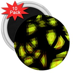 Yellow Light 3  Magnets (10 Pack)