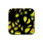 Yellow light Rubber Coaster (Square)  Front