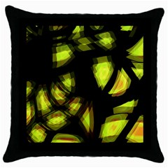 Yellow Light Throw Pillow Case (black)