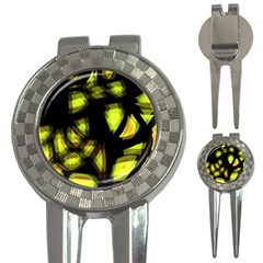 Yellow Light 3 In 1 Golf Divots