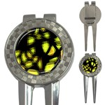 Yellow light 3-in-1 Golf Divots Front