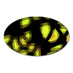 Yellow light Oval Magnet Front