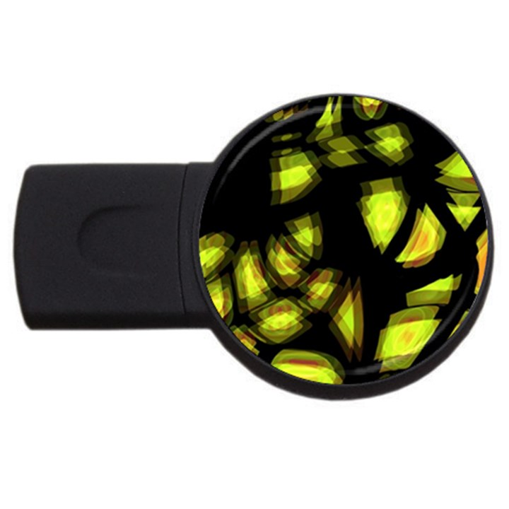 Yellow light USB Flash Drive Round (2 GB)