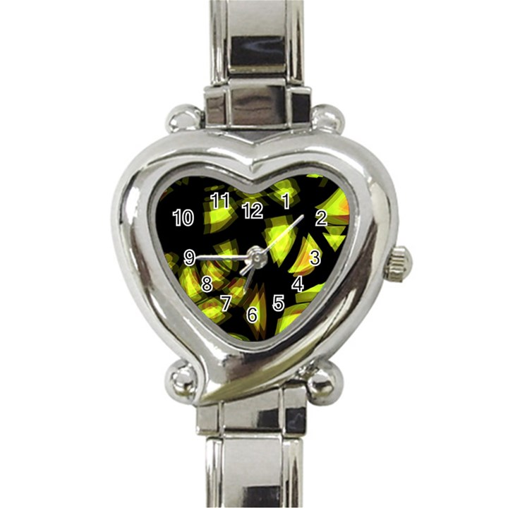 Yellow light Heart Italian Charm Watch