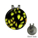 Yellow light Hat Clips with Golf Markers