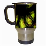Yellow light Travel Mugs (White)