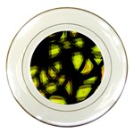 Yellow light Porcelain Plates Front