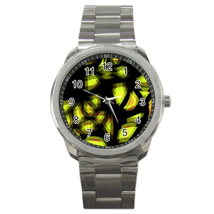 Yellow light Sport Metal Watch