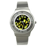 Yellow light Stainless Steel Watch Front
