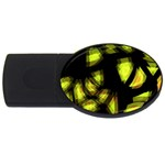 Yellow light USB Flash Drive Oval (4 GB)