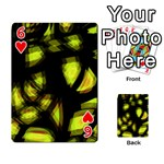 Yellow light Playing Cards 54 Designs  Front - Heart6