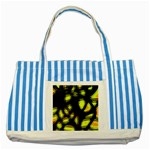 Yellow light Striped Blue Tote Bag