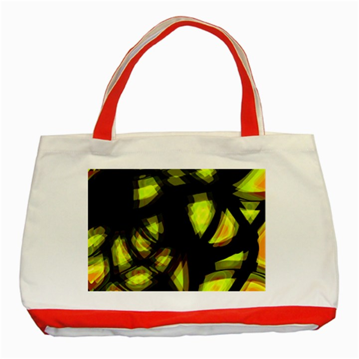 Yellow light Classic Tote Bag (Red)