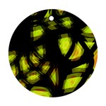 Yellow light Round Ornament (Two Sides)  Back