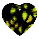 Yellow light Heart Ornament (2 Sides) Back